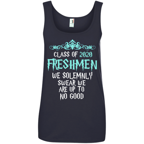Class of 2020 Freshmen We Solemnly Swear We Are Up to No Good Ladies' 100% Ringspun Cotton Tank Top