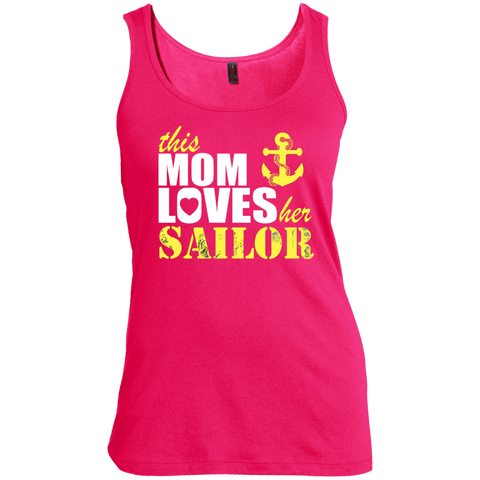 This Mom Loves Her Sailor Scoop Neck Tank Top
