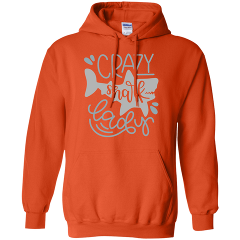 Crazy Shark Lady  Hoodie