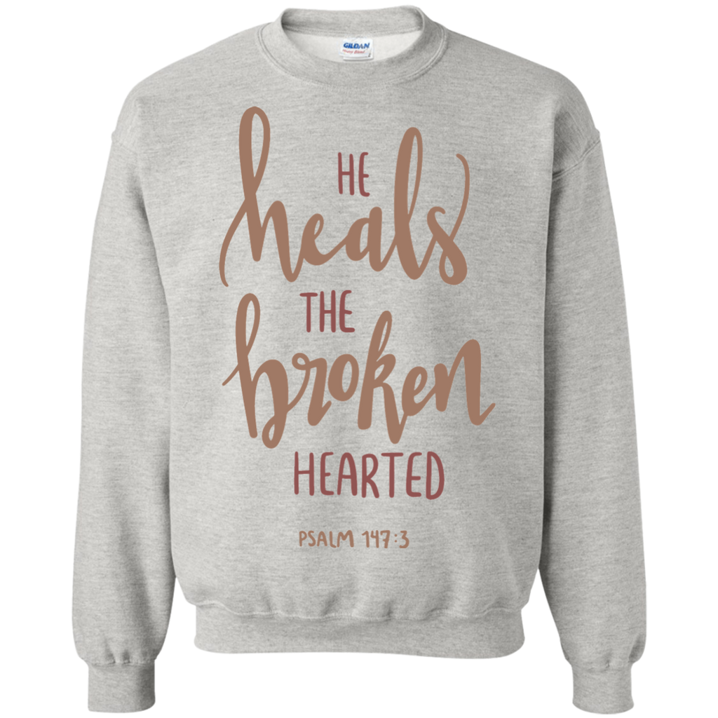 He heals the broken hearted psalm 147 :3 Sweater