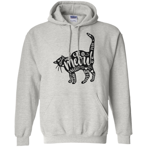 Cat and words Hoodie