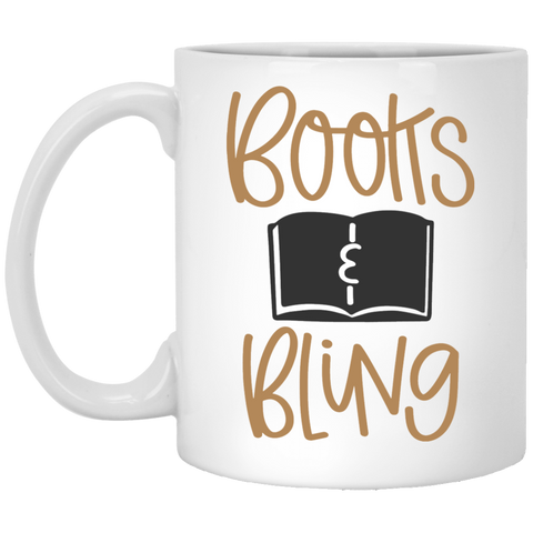 Books Bling  11 oz. White Mug