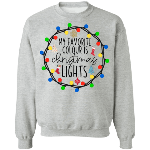 Christmas lights  Crewneck Pullover Sweatshirt  8 oz.