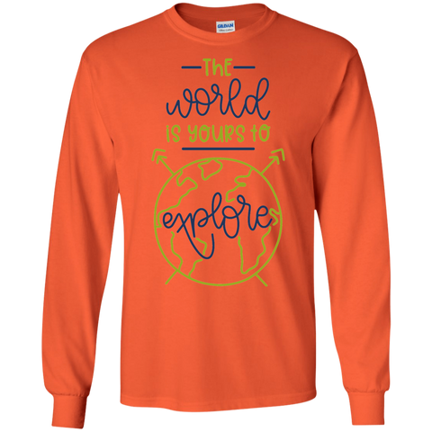 The World is yours to explore LS Tshirt