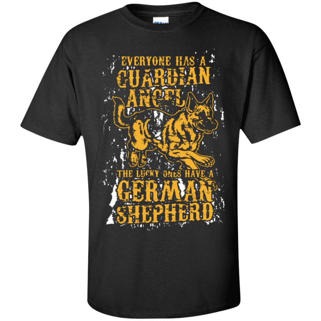 Everyone has a Guardian Angel  German Shepherd  Cotton T-Shirt