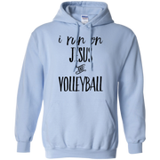 I run on Jesus and Volleyball   Hoodie
