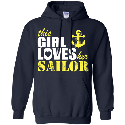 This Girl Loves her Sailor Hoodie 8 oz