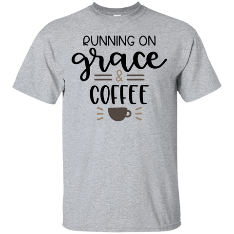 Running on grace  & coffee   T-Shirt