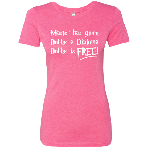 Master has given dobby a diploma dobby is free Next Level Ladies Triblend T-Shirt