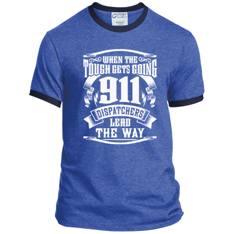 911 Dispatchers Lead the Way Ringer Tee