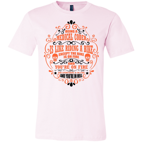 Being a Medical Coder is like riding a bike Bella   Unisex Jersey Short-Sleeve T-Shirt