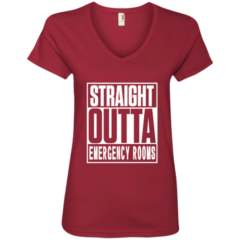 Straight Outta Emergency Rooms Ladies' V-Neck Tee