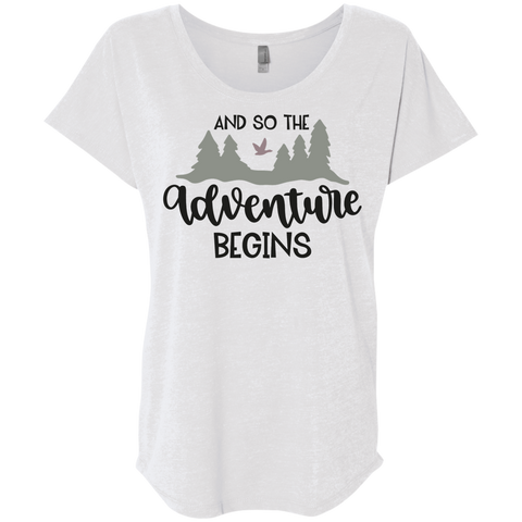 And So the adventure begins Dolman Sleeve