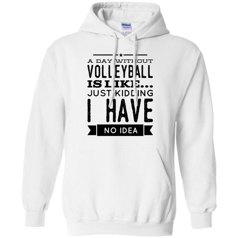 A day without Volleyball  is like .. just kidding i have no idea Gildan Pullover Hoodie