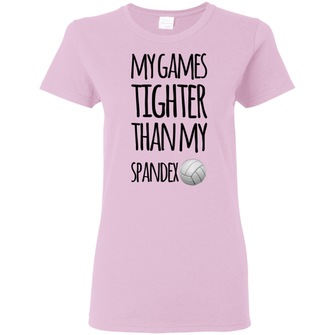My Games Tighter than my spandex  Ladies Tshirt