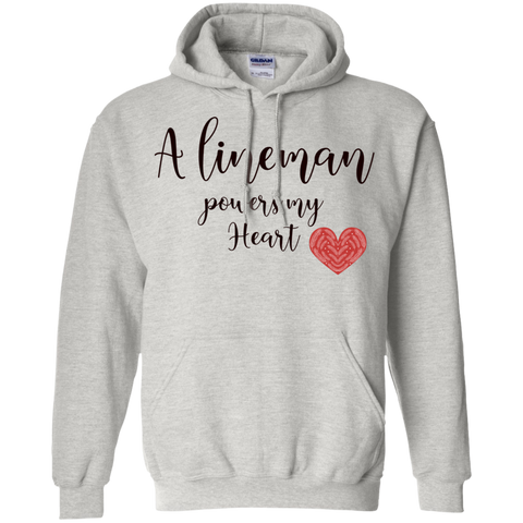 A lineman powers my heart  Hoodie