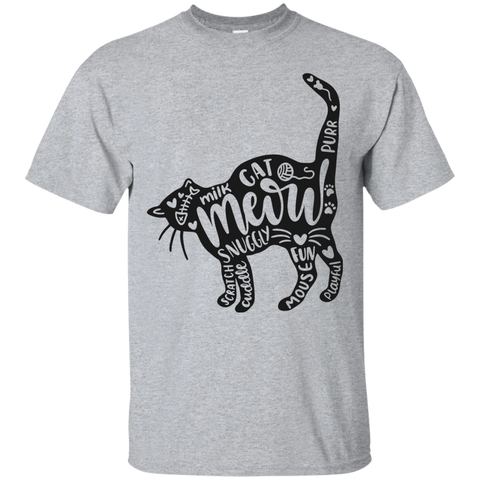 Cat and words   T-Shirt