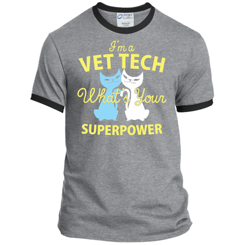 I'm a Vet Tech What's Your Superpower Ringer Tee