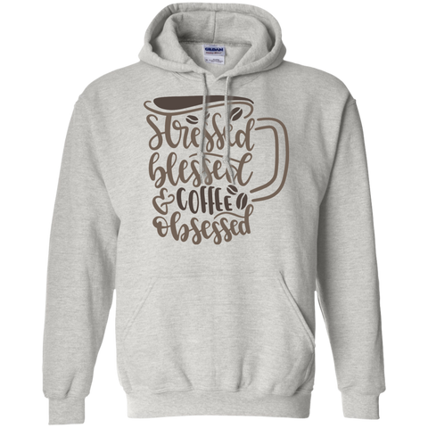 Stressed Blessed coffee obsessed  Hoodie