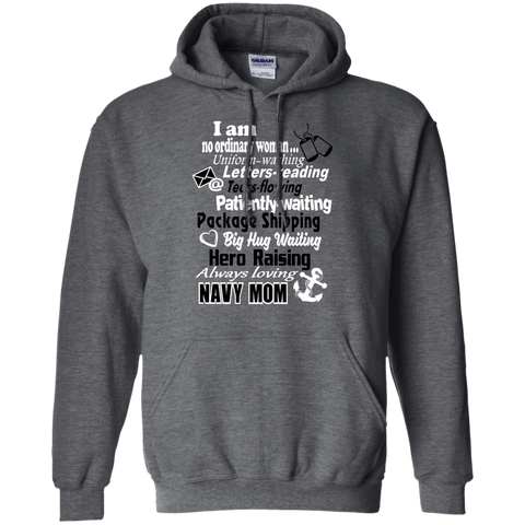 I am a Navy Mom Pullover Hoodie 8 oz