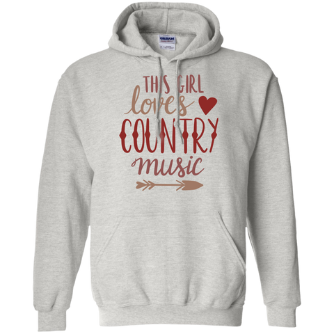 This Girl loves country music  Hoodie