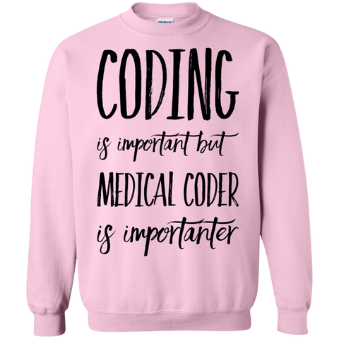 Coding is important but Medical Coder is importanter   Sweatshirt
