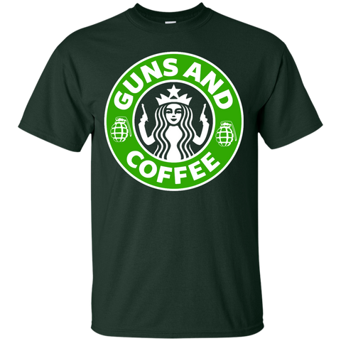 Guns and Coffee Cotton T-Shirt