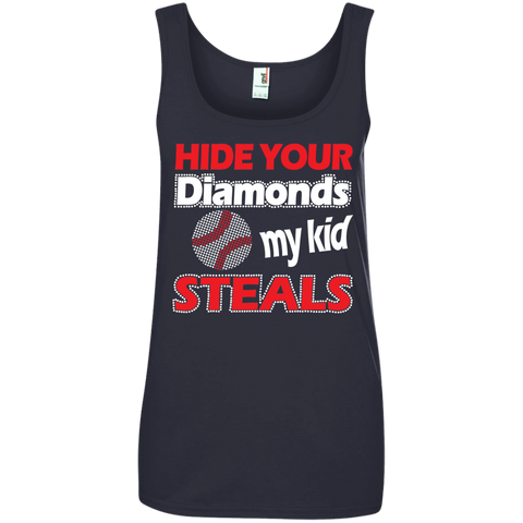 Hide your Diamonds my Kid Steals  100% Ringspun Cotton Tank Top