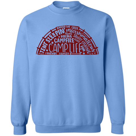 Camp life  words  Sweatshirt