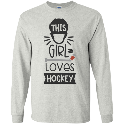 This Girl loves Hockey LS Tshirt