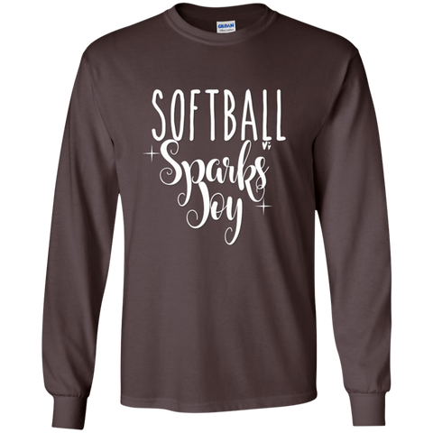 Softball Sparks Joy LS Tshirt
