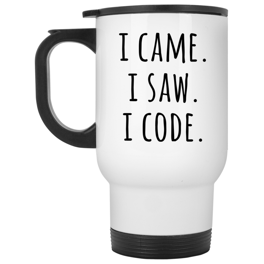 I Came .I Saw. I Code White Travel Mug