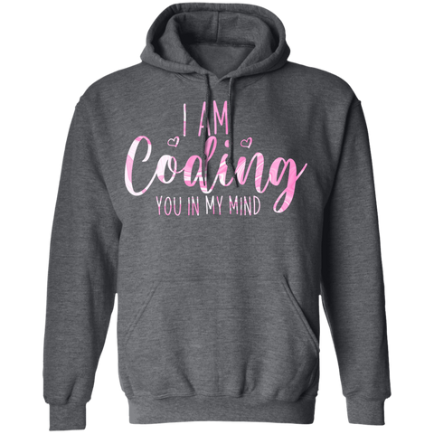 coding you in my mind  Pullover Hoodie 8 oz.