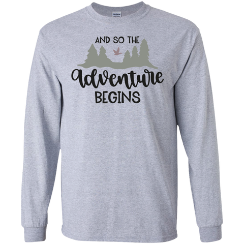 And So the adventure begins LS Tshirt