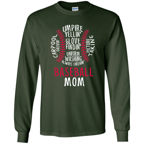 Baseball Mom Always Cheering LS Ultra Cotton Tshirt