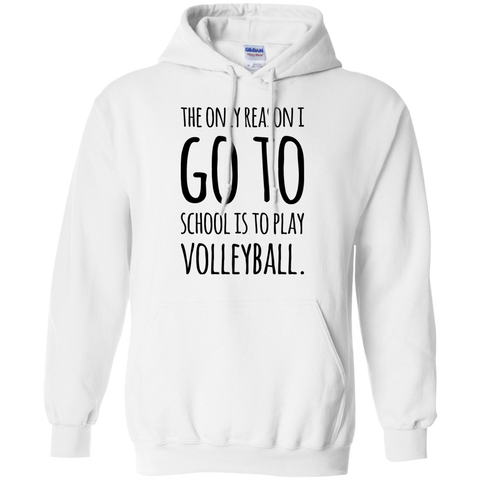 The Only reason i go to school is to play volleyball  Hoodie