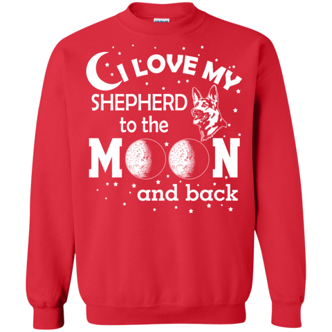 I Love my Shepherd to the Moon and back Crewneck Pullover Sweatshirt  8 oz