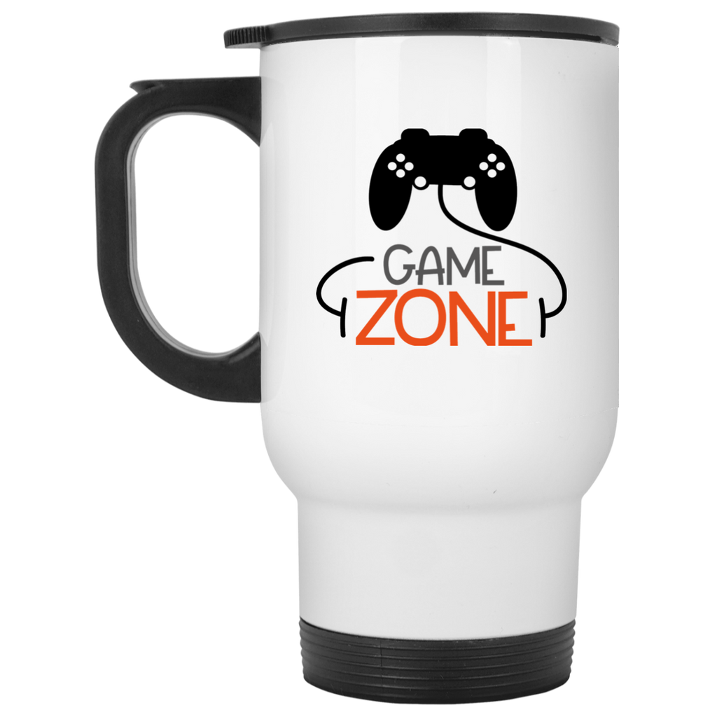 Game Zone  White Travel Mug