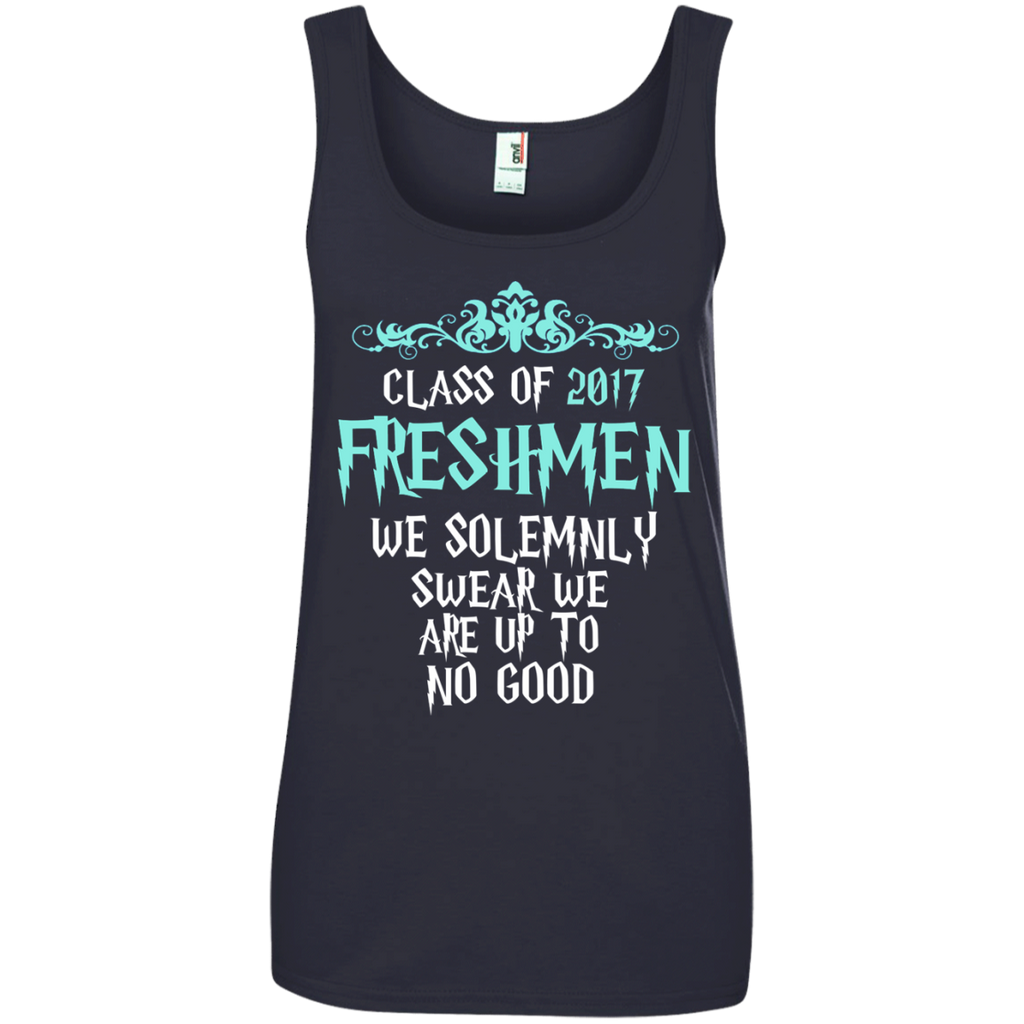 Class of 2017 Freshmen We Solemnly Swear We Are Up to No Good Ladies' 100% Ringspun Cotton Tank Top