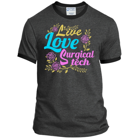 Live Love Surgical Tech Ringer Tee