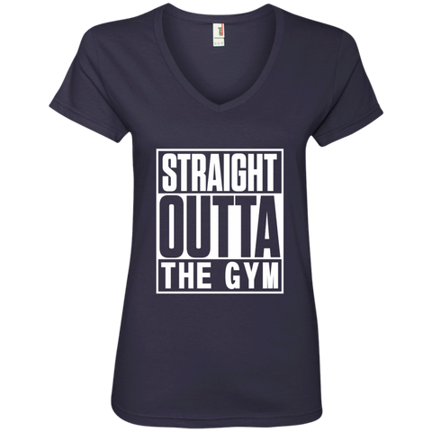 Straight Outta the Gym Ladies' V-Neck Tee