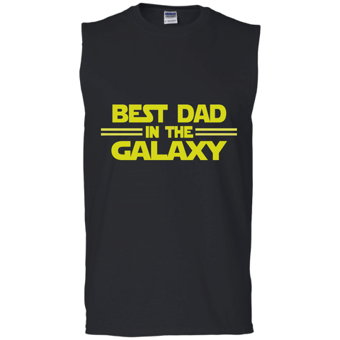 Best Dad in the Galaxy Men's Cotton Sleeveless Tee