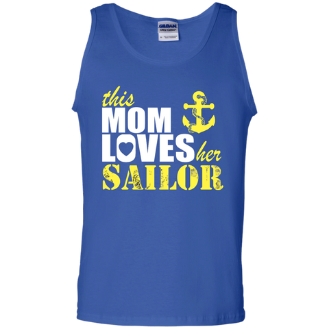This Mom Loves her Sailor   Cotton Tank Top