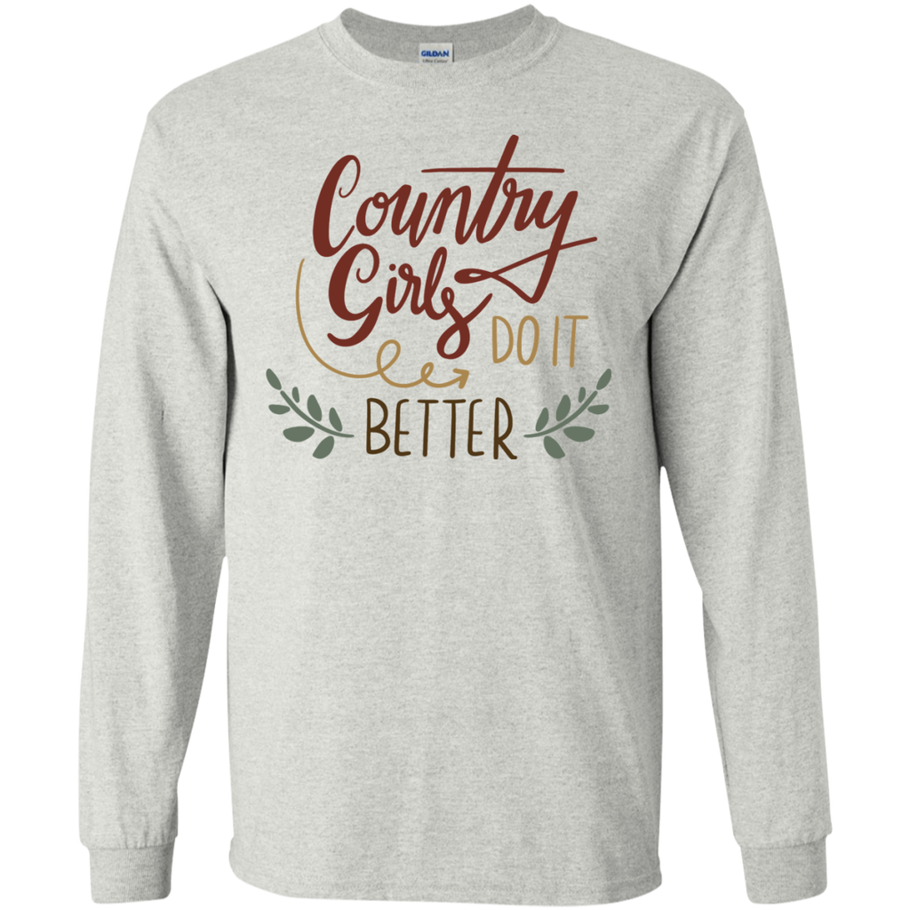 Country Girls Do it Better LS Tshirt