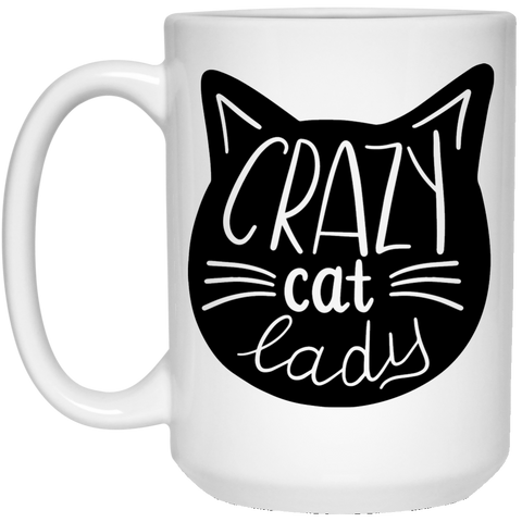 Crazy Cat Lady  15 oz. White Mug