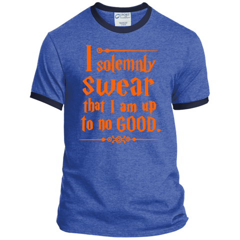 I Solemnly Swear that I am Up to No Good Ringer Tee