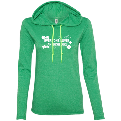 Everyone Loves An Irish Girl Ladies LS T-Shirt Hoodie