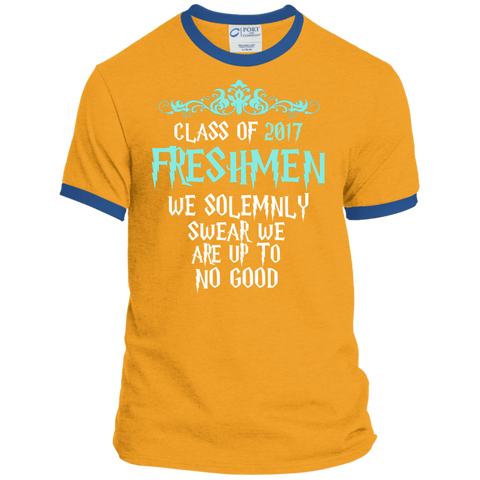Class of 2017 Freshmen We Solemnly Swear We Are Up to No Good Ringer Tee