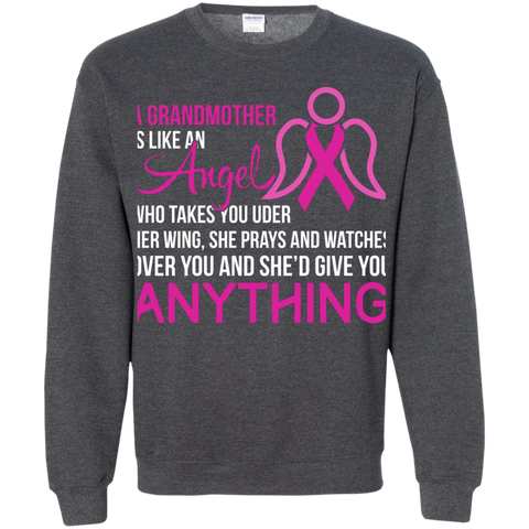 A Grandmother is like an angel  Crewneck Pullover Sweatshirt  8 oz