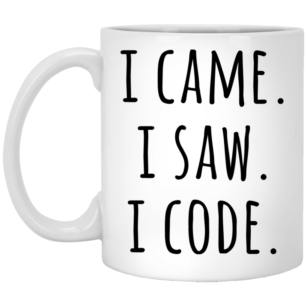 I Came .I Saw. I Code 11 oz. White Mug